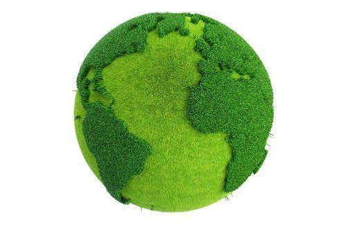 Il pianeta terra di due colori verde