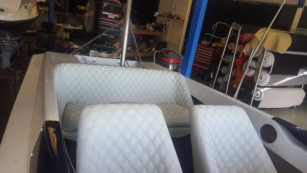 white leather seats