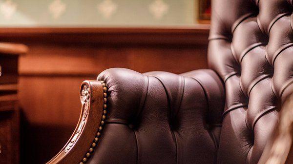 leather armrest
