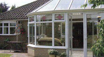 conservatory with door open