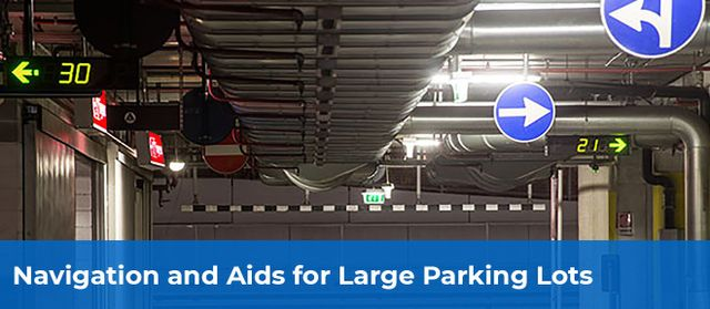 directional signage in parking facility