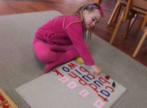 Kindy Daycare Childcare Literacy Spelling Alphabet writing