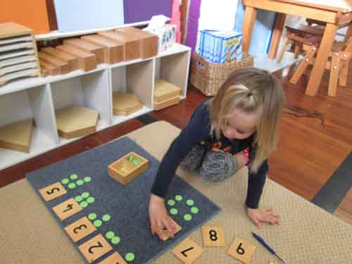 Maths childcare daycare kindergarten kindy preschool Napier Montessori