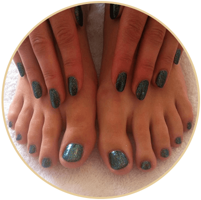 Superb manicure and pedicure