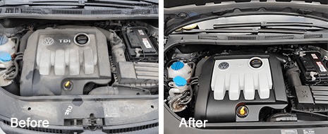 Engine steam cleaning from S A Auto Services