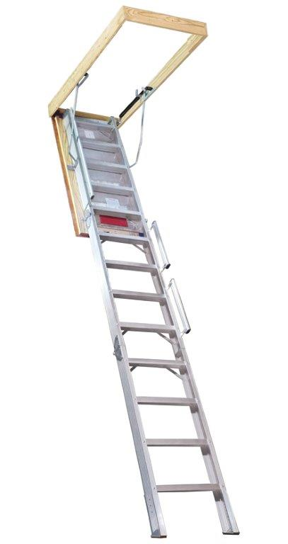 Attic Ladders u2014 Metal Attic Stair in Tulsa OK  sc 1 st  Ladders of Tulsa LLC & Attic Ladders | Tulsa OK | Ladders of Tulsa LLC