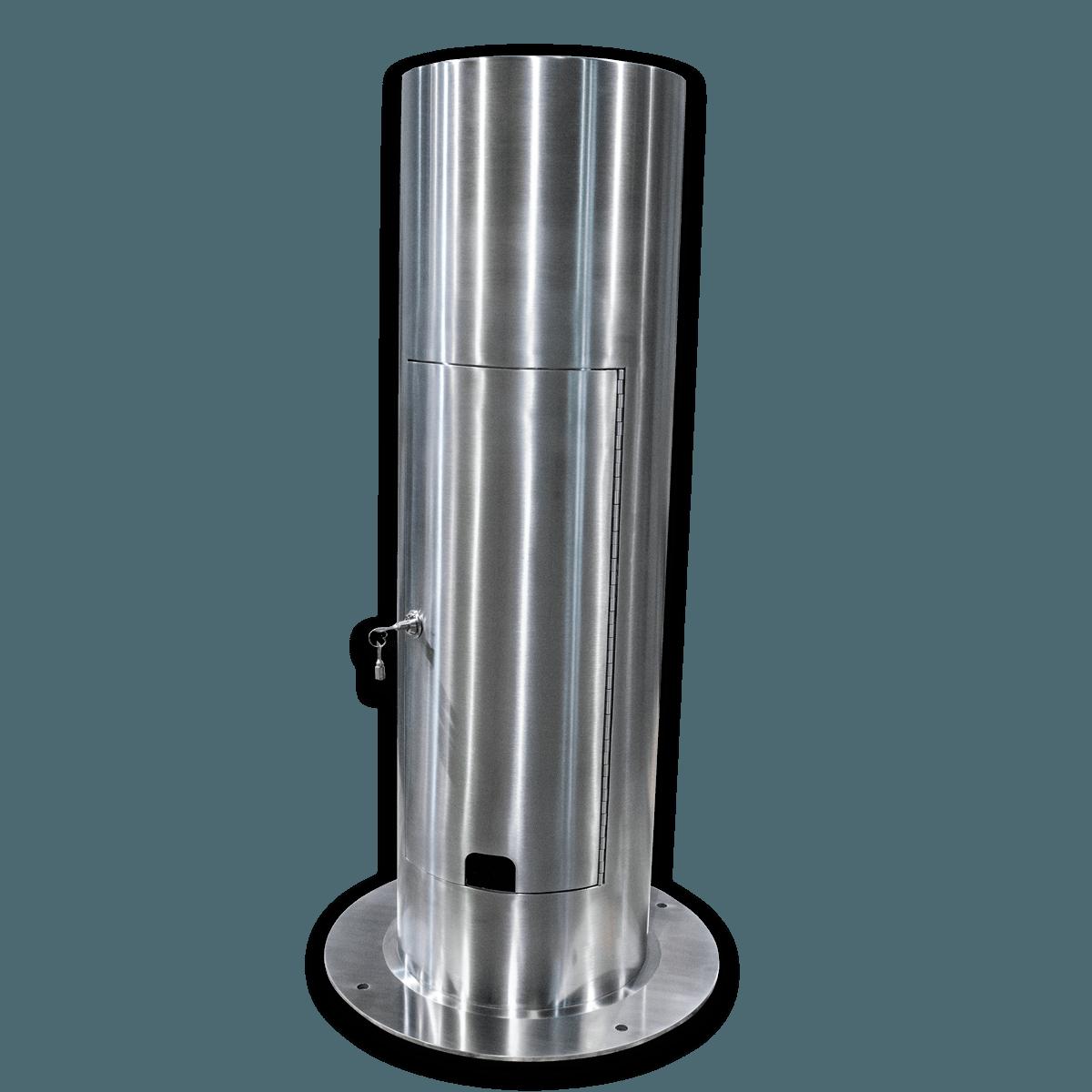 不锈钢锁门公用事业接入系柱