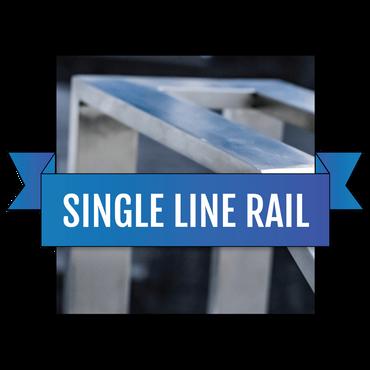 单线不锈钢定制手轨栏杆套件系统