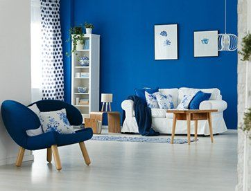Furniture Repair U2014 Trendy Blue And White Living Room Interior Design In Las  Vegas, NV