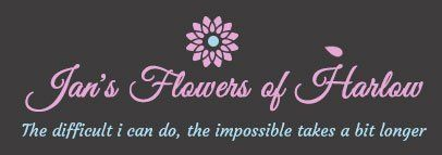 Jan's Flowers of Harlow logo