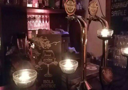 angolo birre alla spina di un bar