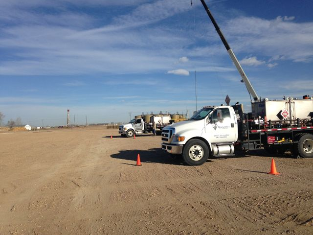 Truck used by our team for well services in Greeley, CO