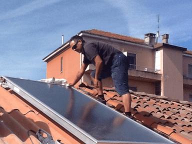 impianti idraulici, impianti termoidraulici, pannello fotovoltaico