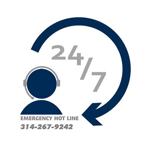 24/7 emergency service icon
