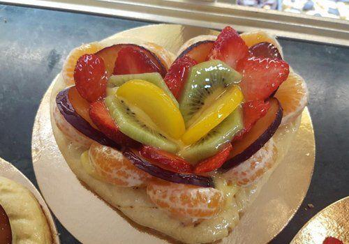 pasticcino crema e frutta