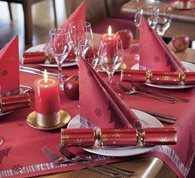 red table coverings