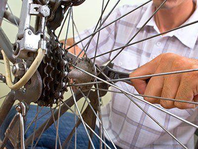 Servicing bike