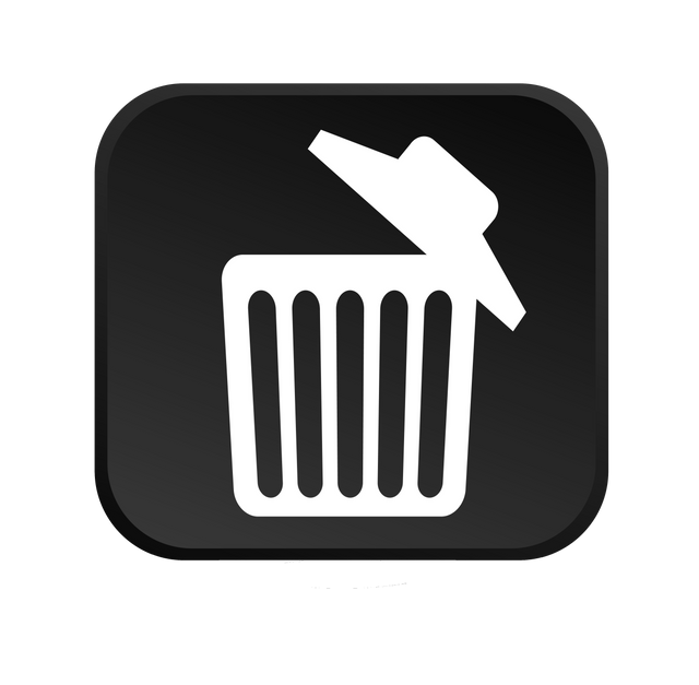 A trashcan icon as a symbol for our trash removal services