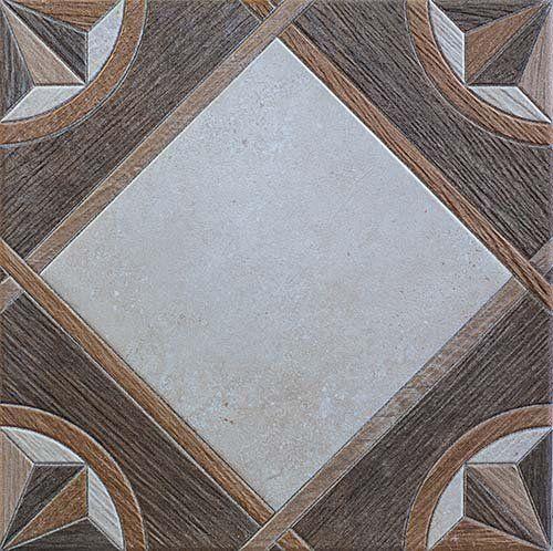Piastrella in legno e porcellana