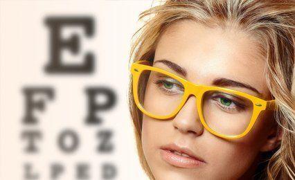 yellow framed glasses