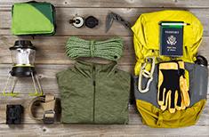 Custodia attrezzature da campeggio
