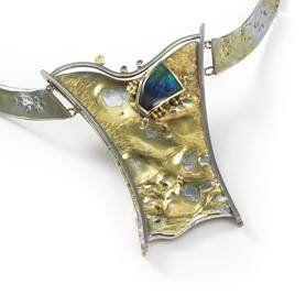 View of a gold Neckpiece