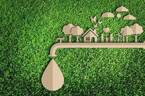 sistema di drenaggio dell`acqua per la salvaguardia dell`ambiente