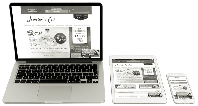 Multi-screen responsive website design optimized for desktop, tablet & mobile.