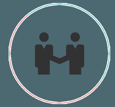 people shaking hands vector