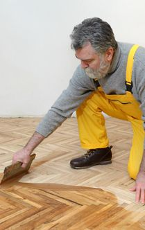 Fixing old, damaged floor