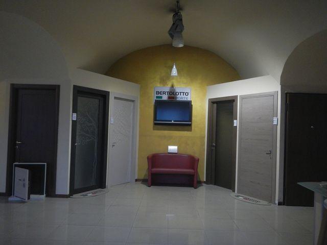 stanza con diversi tipi di porte