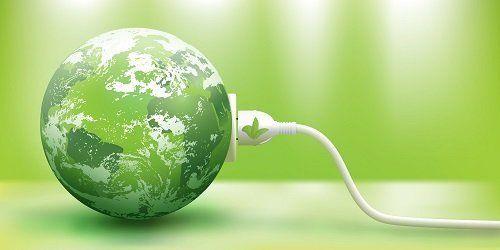 Pianeta verde acceso come una lampadina