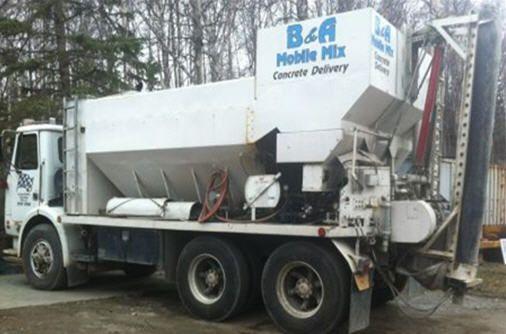 Premix concrete from B&A Mobile Mix in Anchorage, AK