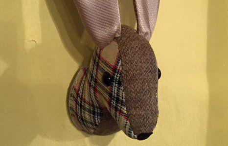 Fabric-made animal heads