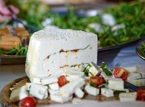 formaggio fresco alla rucola e pachino