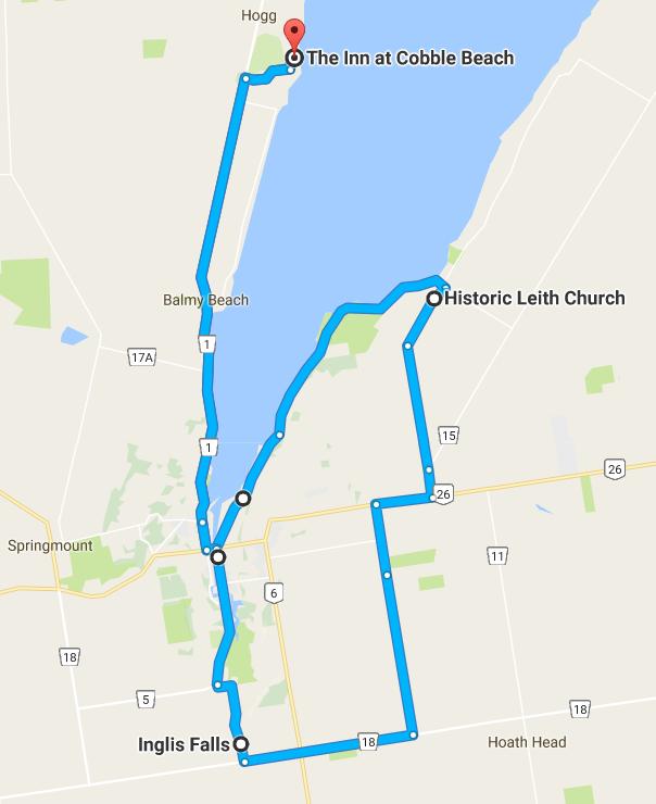 Participant Tour Route