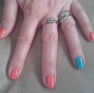 multi-coloured nail colours