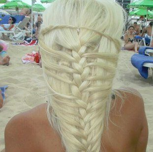 uniquely styled hair