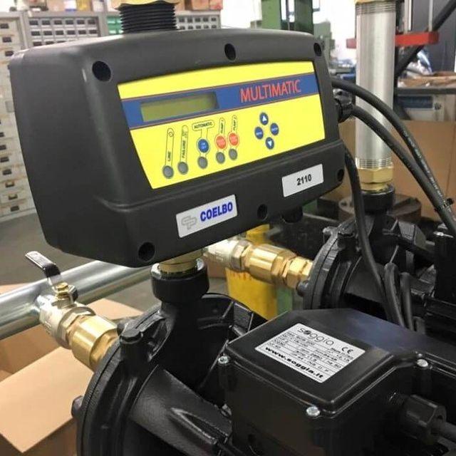 Sistema multimatic elettronico di controllo di varie pompe di acqua