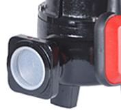 elettropompa nera e rossa