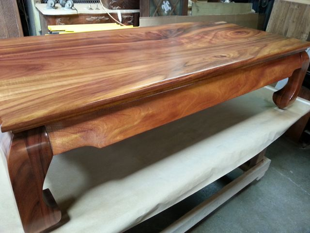 Furniture repair work being done on the table by expert in Honolulu, HI