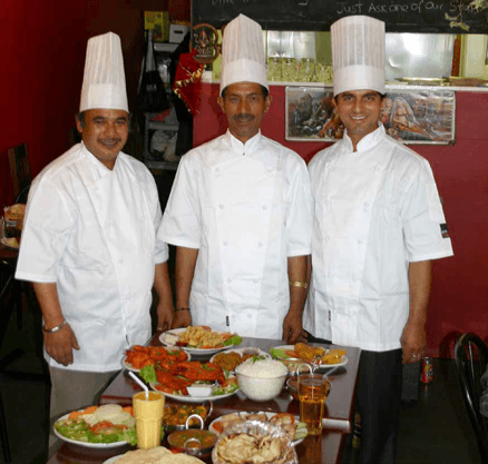Chefs at our Indian restaurant in Dunedin