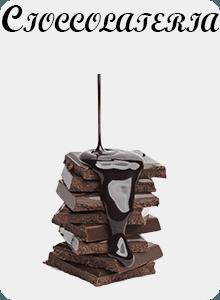 Pezzi di cioccolata impilati