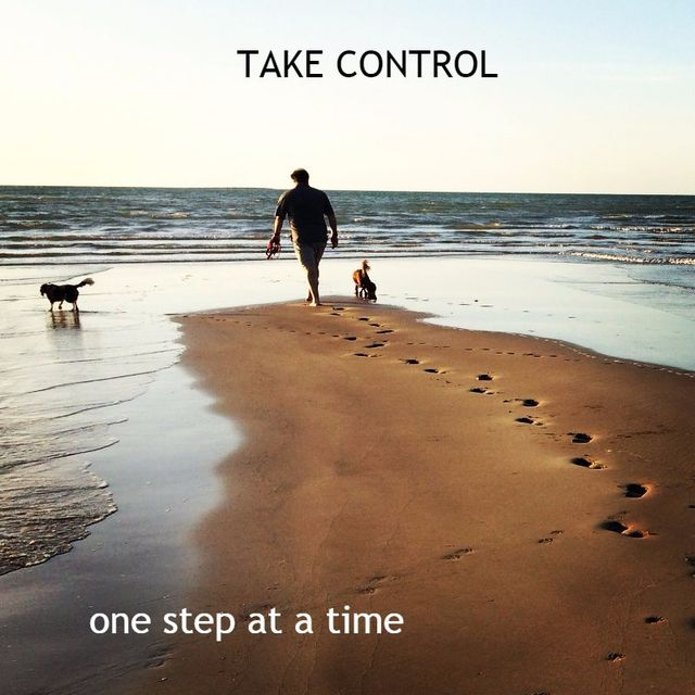 Prof Skinner walking the dogs on beach