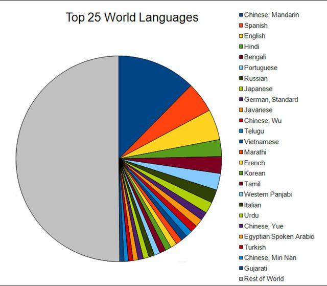 Language Project - Language chart of the world