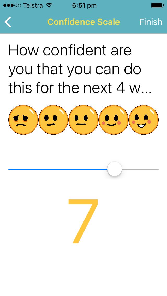 App screenshot confidence scale using emojis