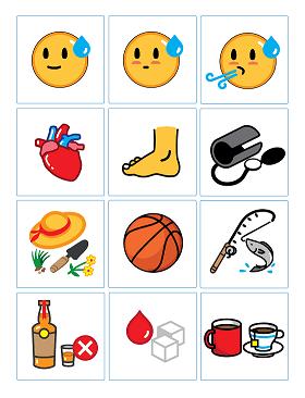 emojifit Diabetes pictorial library examples
