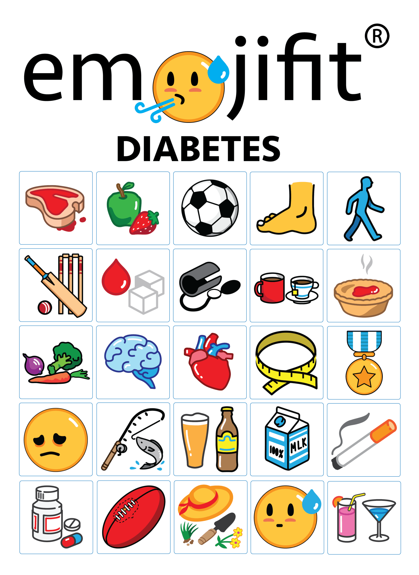 emojifit pictorial library for health examples