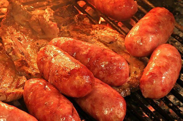 Carne alla brace cotta nel camino di La Botte a Sondrio