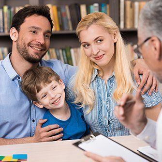 Happy family after best family support services in Colorado